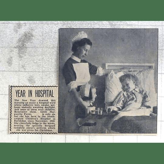 1950 Brave Marguerite Payne, Year In Southampton Children's Hospital