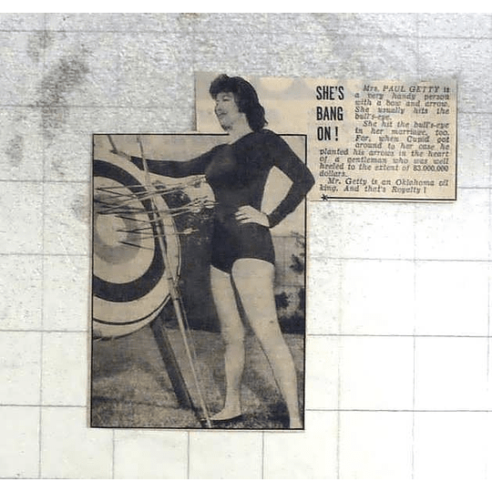 1950 Mrs Paul Getty Hndy Girl With The Bow And Arrow