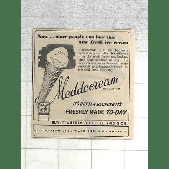 1950 Meddocream Fresh Ice Cream, Ward End Birmingham