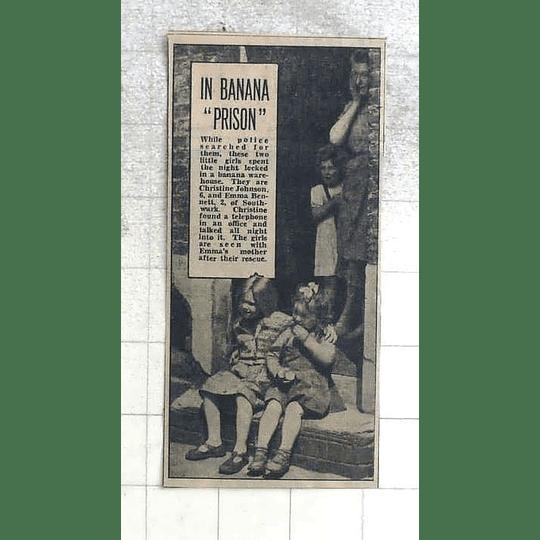 1950 Christine Johnson And Emma Bennett, Southwark In Banana Prison