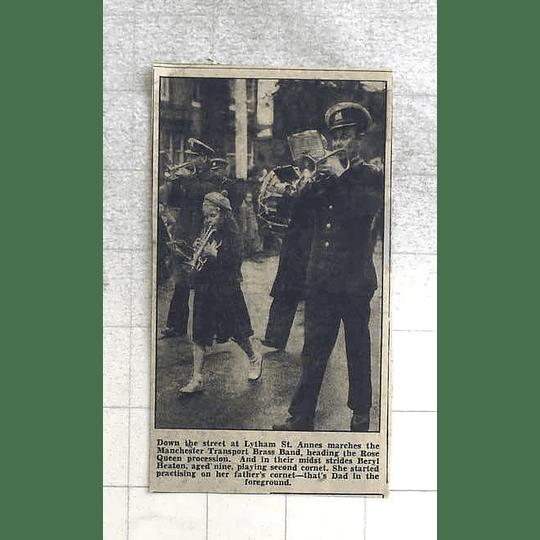 1950 Lytham St Anne's, Beryl Heaton Marching Transport Brass Band