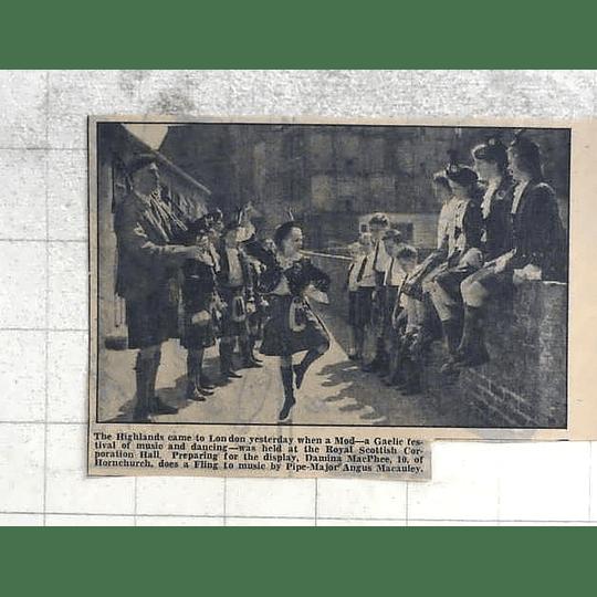 1950 Damina Macphee, Hornchurch Dancing Fling, Pipe Maj Angus Mccauley