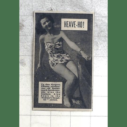 1950 Bournemouth Hairdresser, Margaret Ellinson Wins Neptune Daughter Contest