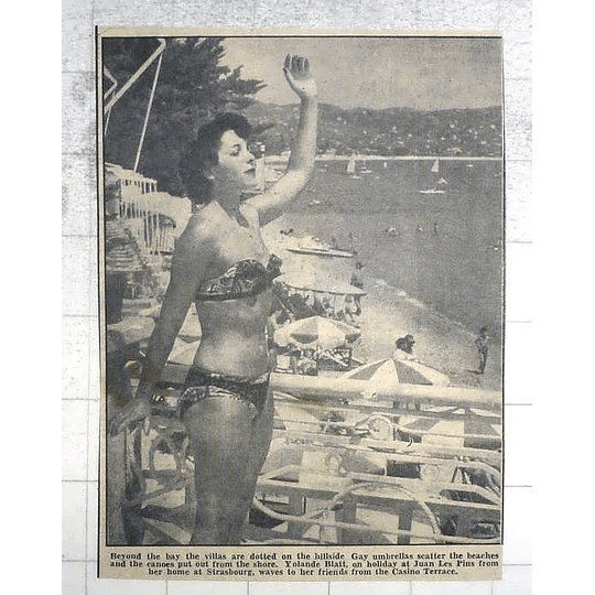 1950 Yolande Blatt On Holiday For From Her Home At Strasbourg