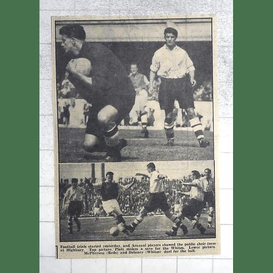 1950 Arsenal Football Trials, Platt, Macpherson, Delaney