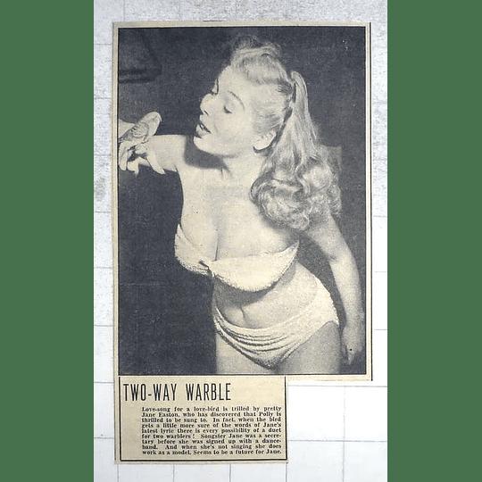 1950 Singer Jane Easton, Also Working As A Model, Pretty Bird