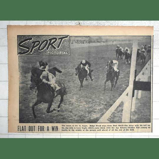 1950 Finish Of The St Leger, Ridge Wood Wins From Dust Devil