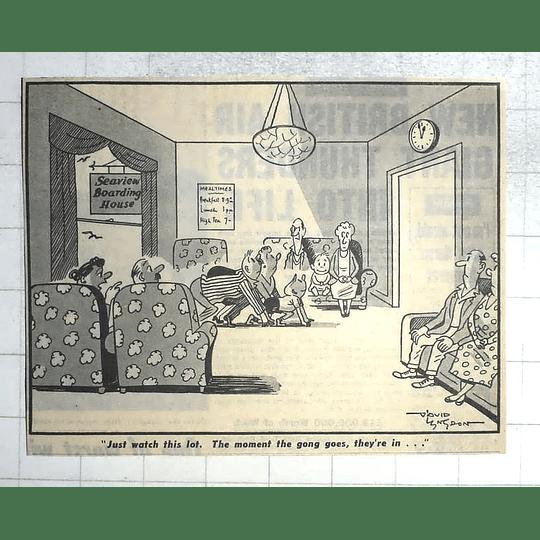1950 David Langdon Cartoon Mealtime At The Boardinghouse