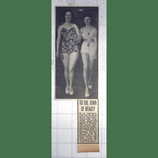 1950 Chesterfield Housewife Phyllis Hobson, Ann Hssey, Worksop,beauties