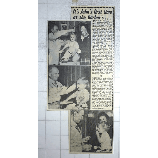 1950 Barber Henry Brinks, John Hussey In The Chair
