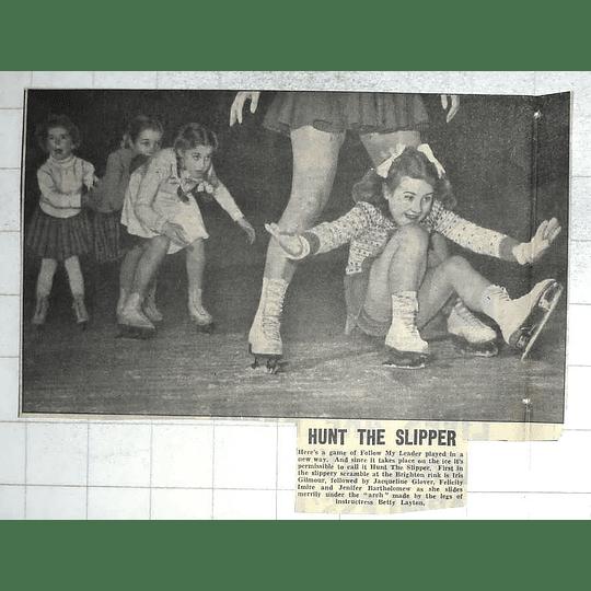 1950 Brighton Ice Rink, Betty Layton, Jacqueline Glover, Felicity Imire