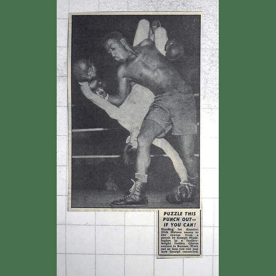1950 Golden Gloves Contest Kansas, George Washington, Dick Matson