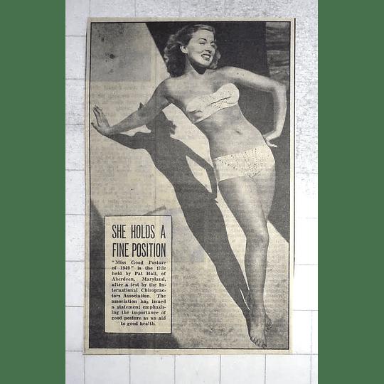 1950 Pat Hall, Aberdeen, Maryland, Miss Good Posture 1949