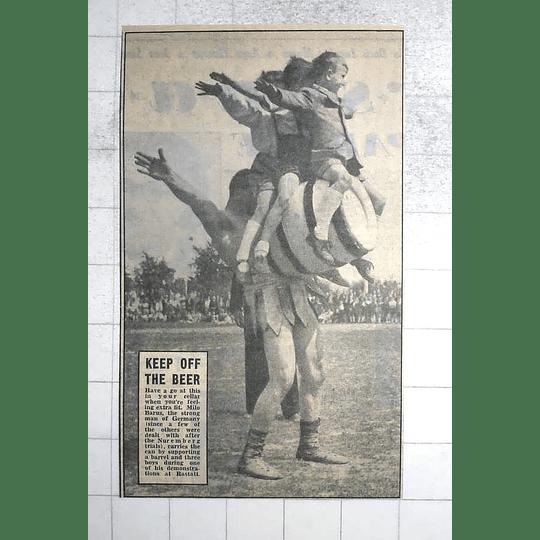 1950 German Strongman, Milo Barus, Show Of Strength Rastatt