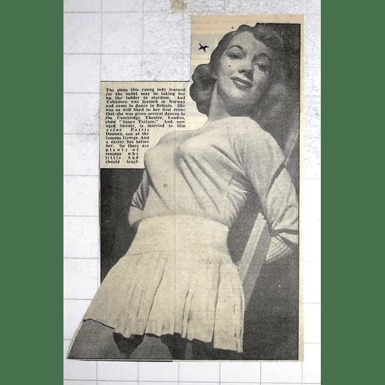 1950 Aud Johanssen Dances Cambridge Theatre London