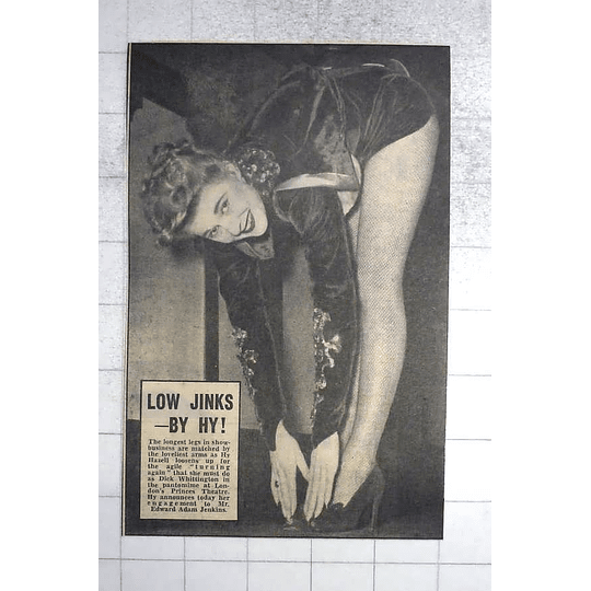 1950 Long Legs Hy Hazell Engaged To Edward Jenkins