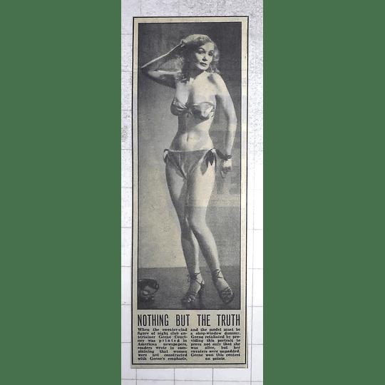 1950 Nightclub Entertainer Geene Courtney, Unpadded Sweaters