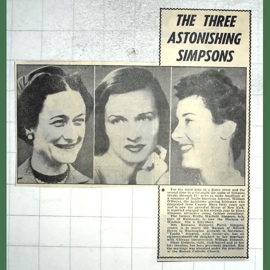 1950 Three Astonishing Simpsons, Wallis, Romaine, Sloan