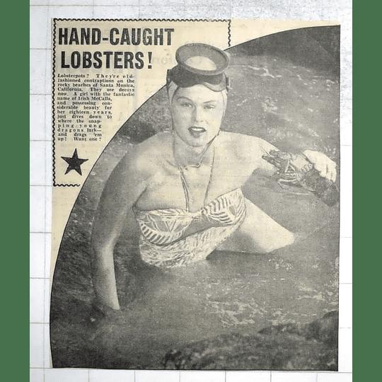 1950 Irish Mccalla Catching Lobsters Santa Monica California