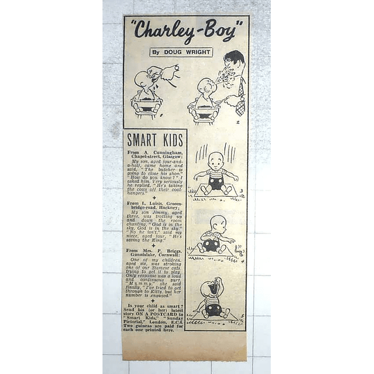 1950 Another Charley Boy Cartoon By Doug Wright