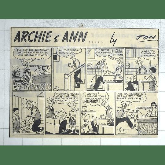 1950 Archie And Ann... Strip Cartoon By Jon
