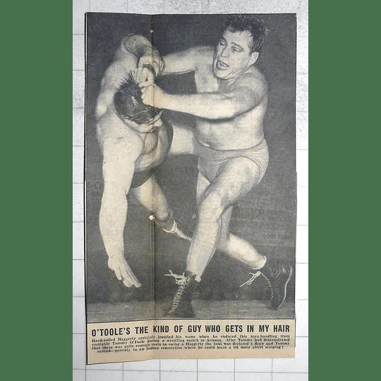 1950 Wrestling Match, Arizona, Tommy O'toole, Haggerty