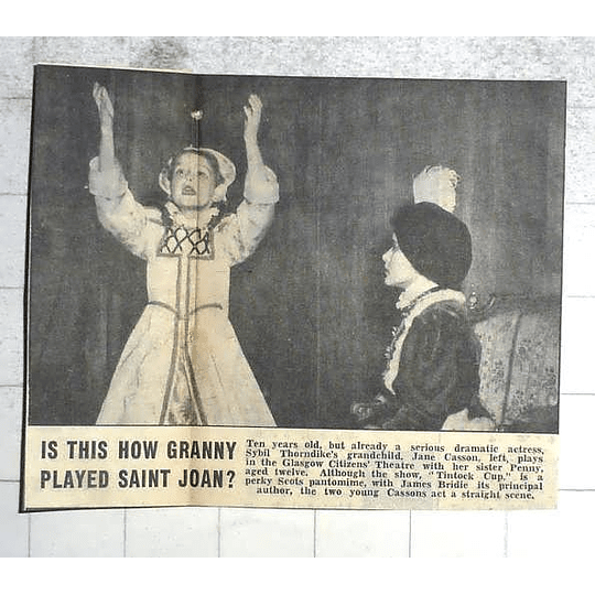 1950 Sybil Thorndyke Grand Daughter Jane Casson, Sister Penny On Stage