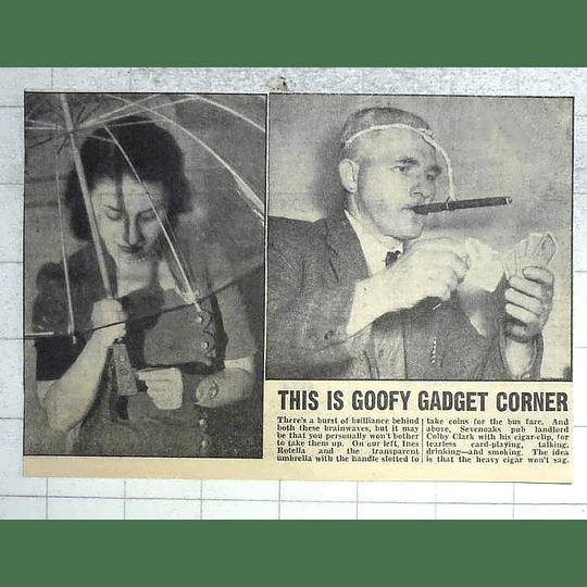 1950 Ines Rotella , Umbrella, Sevenoaks Pub Landlord Colby Clark