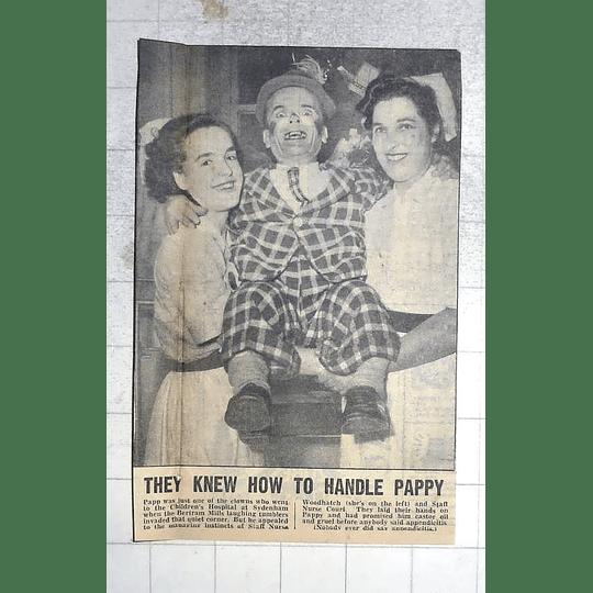 1950 Pappy The Clown, Children's Hospital Sydenham Nurse Woodhouse, Court