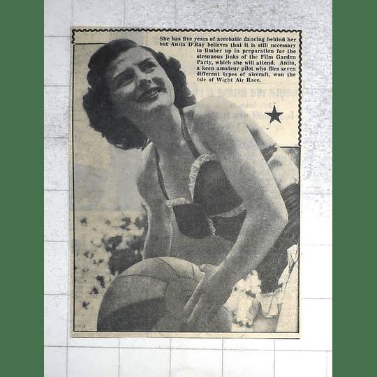 1950 Acrobatic Dancing, Anita D'ray, Won Iow Air Race