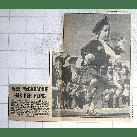 1950 Morag Mcconachie, Age 6, Highland Fling At White City