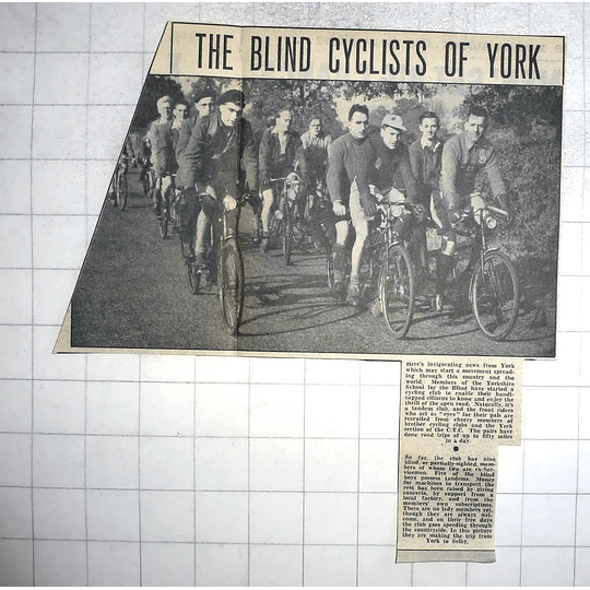 1950 Yorkshire School For The Blind, Cycling Club, Ex-servicemen