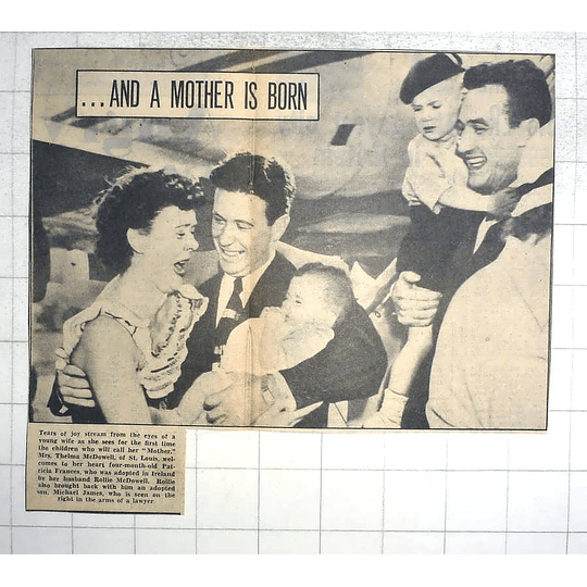 1950 Mrs Thelma Mcdowell, St Louis Welcomes Four-month Old Patricia, Rollie