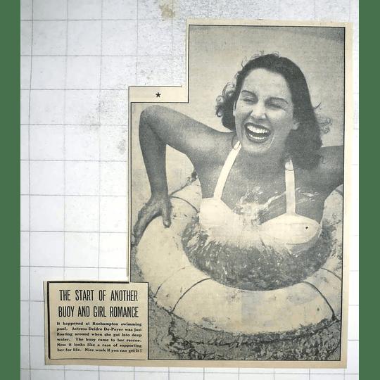 1950 Roehampton Swimming Pool Actress Deidre De-peyer