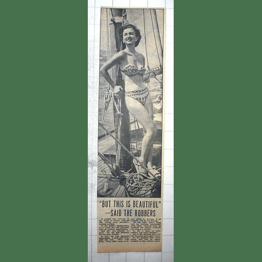 1950 Film Actresses Zena Marshall's Bathing Scanties