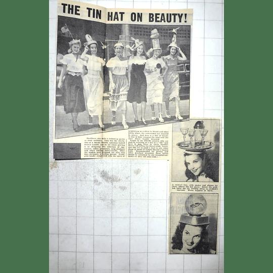 1950 Miami Salesman, Robert Gatliff Designs Fashion Tin Hats