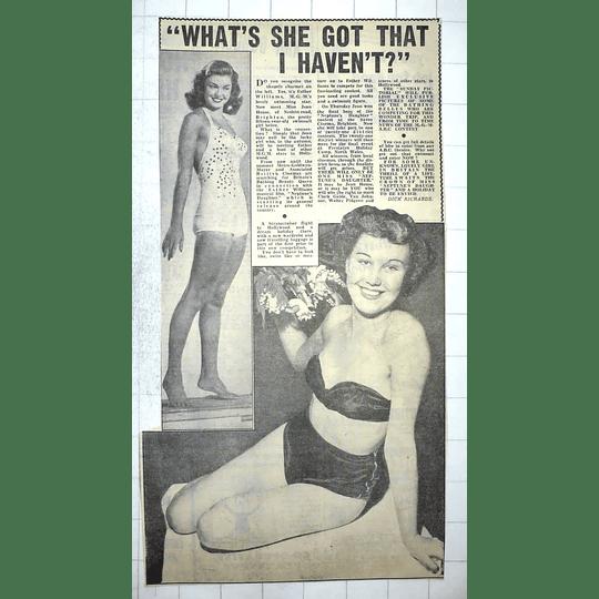 1950 Miss Jean House, Nesbitt Road Brighton 15-year-old Swimsuit Girl