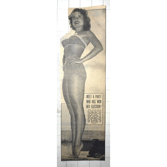 1950 Mim Scharlack Has Won Her Beauty Competition