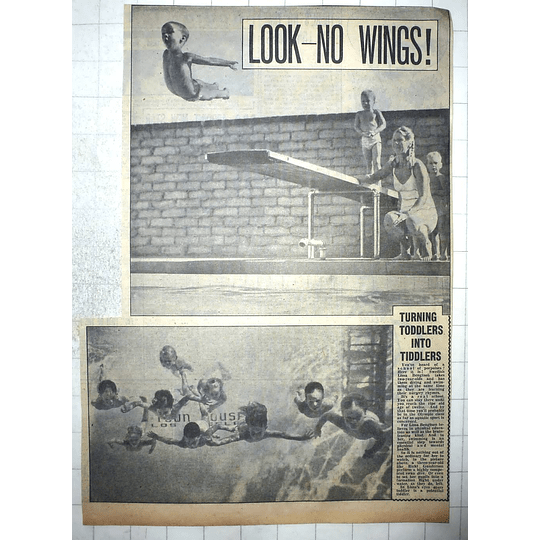 1950 Swedish Swimming Instructor Lissa Bengtsson Turning Toddlers Into Tiddlers
