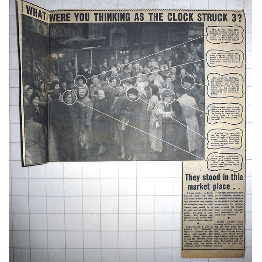 1950 Joe Emden, Walthamstow, Sophie Meslovaith, Mary Gangee, William Mackie