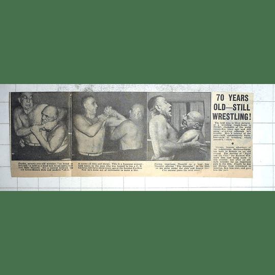 1950 Champion Wrestler, 70-year-old Zbysko, Contest With Mike Mazurki