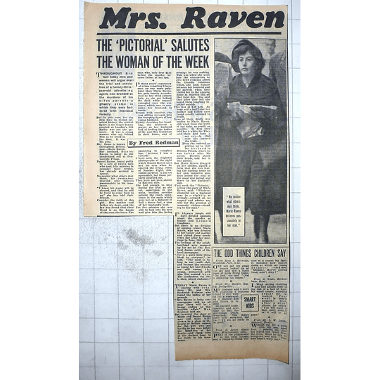 1950 Marie Raven, Dedicated Wife Stands By Husband Through Murder Charge