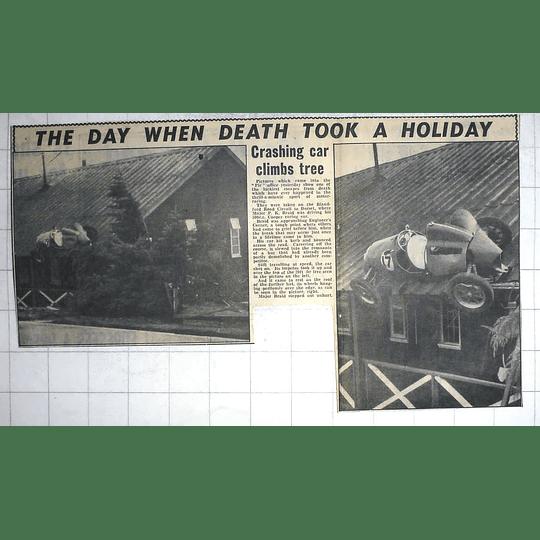 1950 Blandford Road Circuit, Dorset, Pk Braid Crashes Car Into Roof
