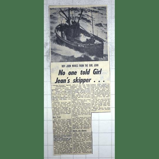 1950 Joe Cargill, Girl Jean, 14-year-old John Guthrie, Arbroath