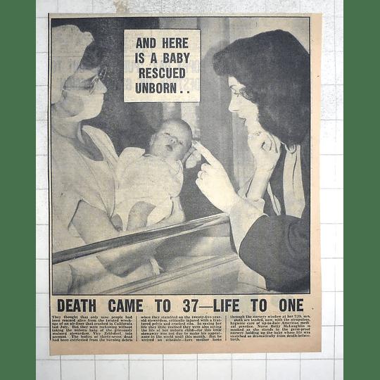 1950 Vicy Zeldsdorf Delivers Beautiful Baby After California Air Crash