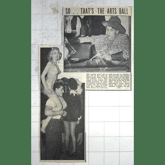 1950 Chelsea Arts Ball, Jennie Clark