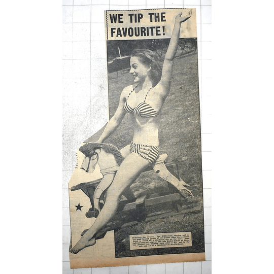 1950 Jose Williamson Fancied Jockey Ada Foster School Of Dancing