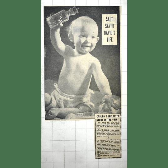 1950 David Gareth Jones Curate From Pink Disease By Salt, Donald Cheek