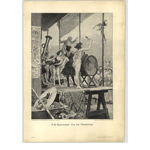 1902 Fh Kaemmerer ~ Before The Performance Artwork