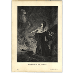 1902 Kunz Meyer ~ The Witch Of Endor Artwork